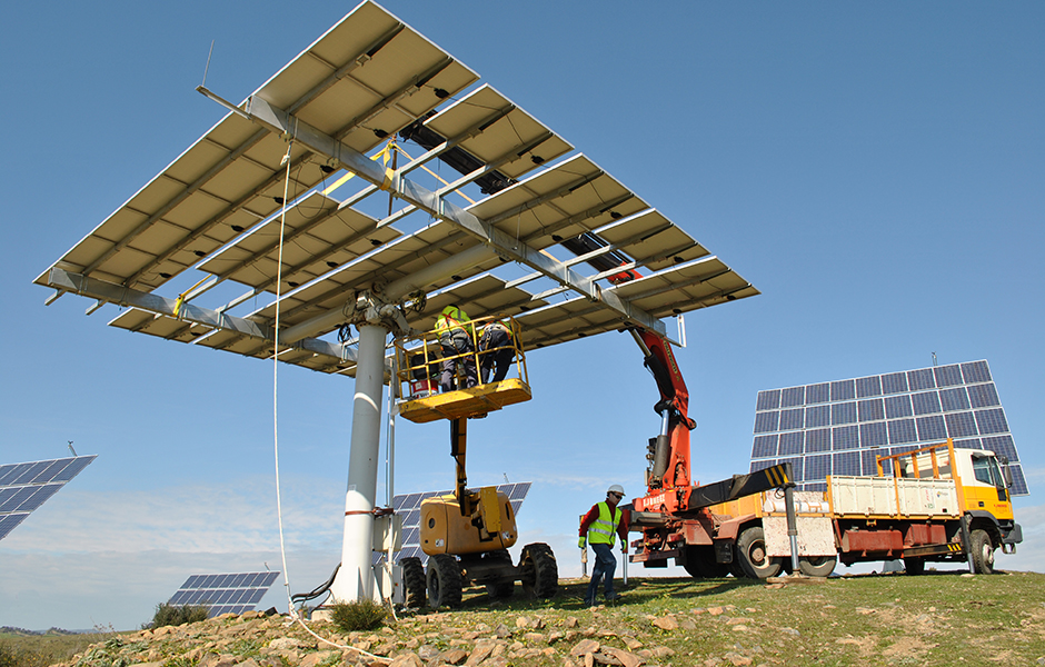 Maintenance of Solar trackers