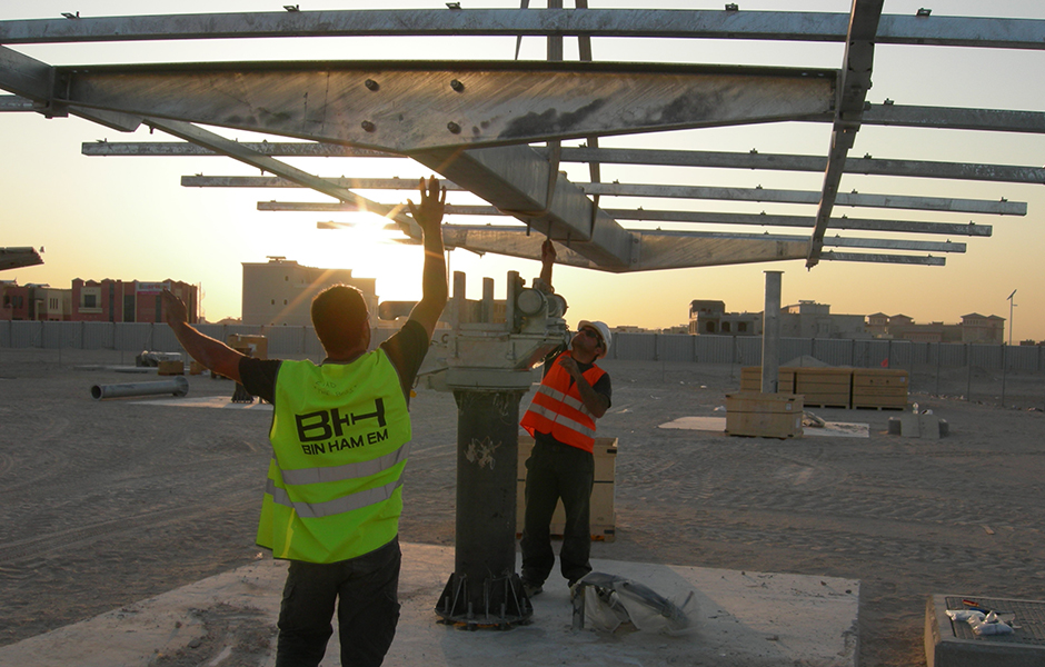 CPV installation in Masdar City
